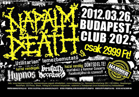 Napalm Death @ Club 202 - 2012.03.26.