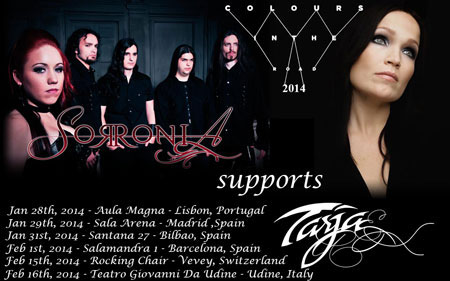 Sorronia, mint Tarja support
